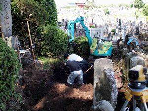 無縁墓工事1
